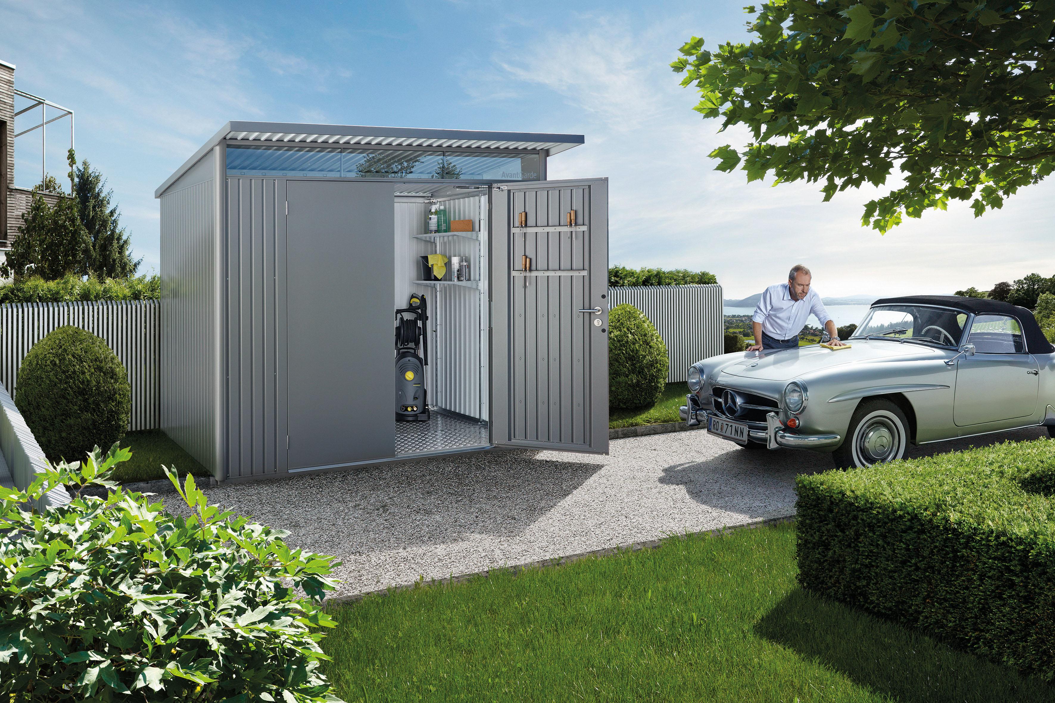 Gerätehaus AvantGarde® mit Einzel- oder Doppeltüre