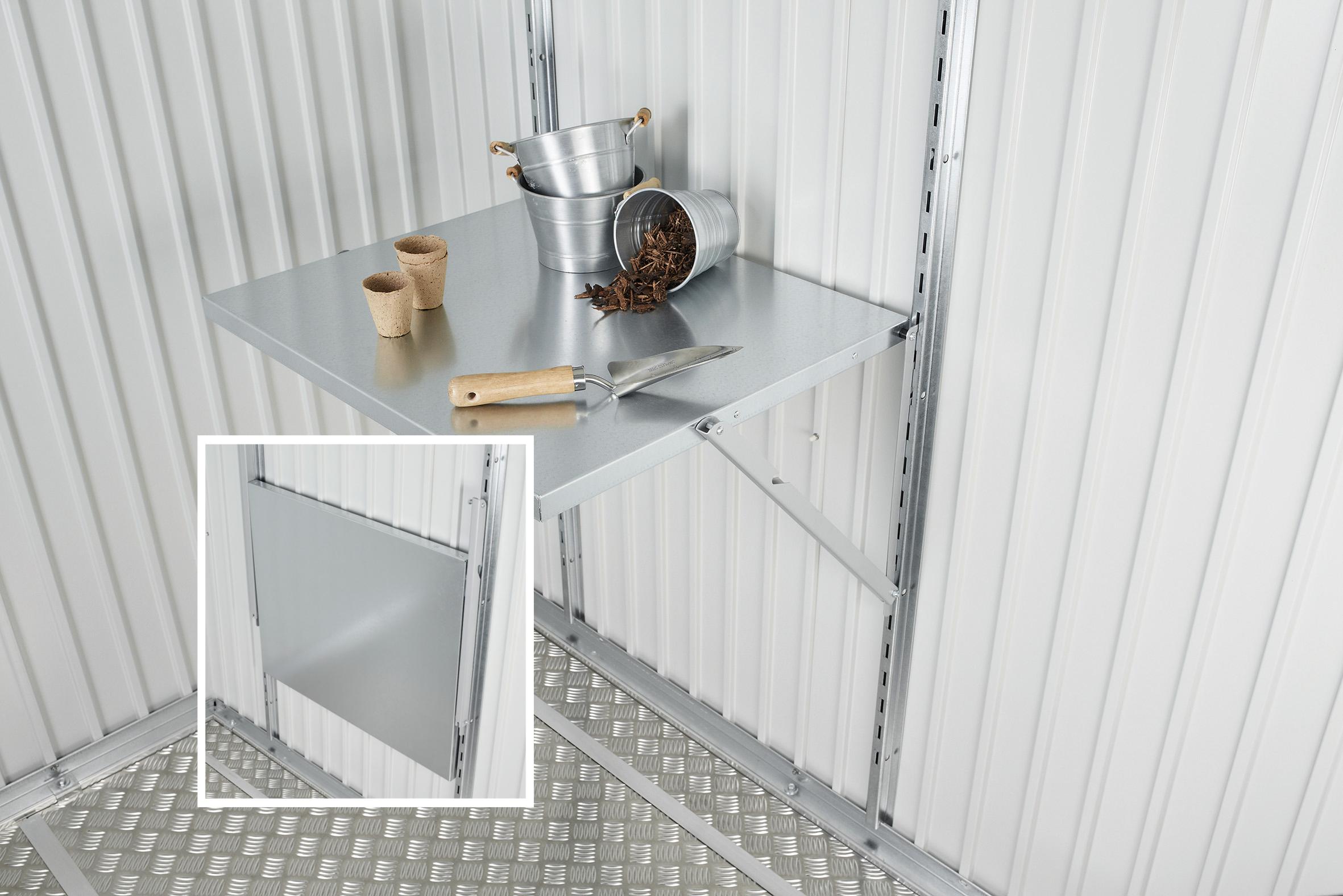 Klapptisch für Biohort Gerätehaus und Geräteschrank